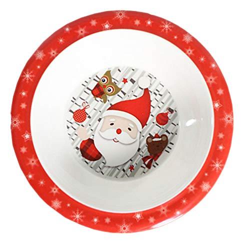 ABOOFAN Platos de Navidad para fiesta de Papá Noel de dibujos animados...