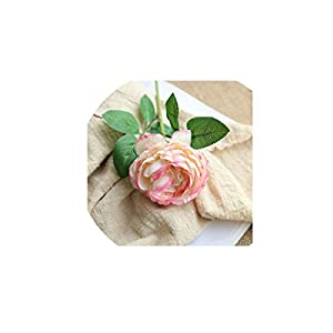 Artificial Flowers Western Rose core Peonies Bouquet Flores Home Decoration Wedding Bouquets Fake Flowers,White Pink