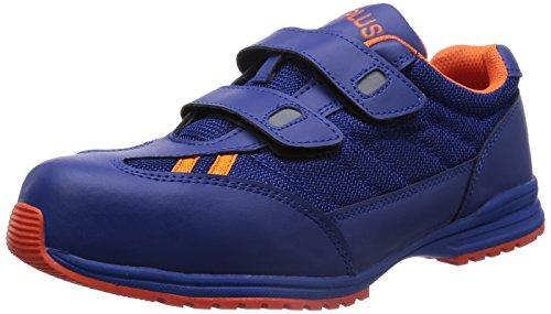 [ミドリ安全] 安全作業靴 JSAA認定 耐滑 マジックタイプ プロスニーカー WPT115 メンズ ブルー×オレンジ 27.0(27cm)
