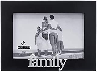 Malden International Designs Family Expressions Picture Frame, 4x6, Black