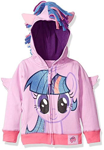 My Little Pony Toddler Girls Zip-up Hoodie, Twighlight Sparkle, 4T