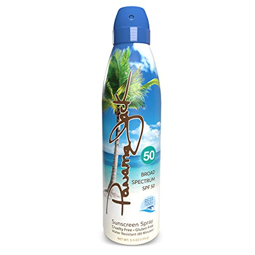 Panama Jack Continuous Spray Sunscreen - SPF 50, Broad Spectrum UVA/UVB Protection, Reef-Friendly, PABA, Paraben, Gluten & Cruelty Free, Water Resistant (80 Minutes), 5.5 OZ (Pack of 6)