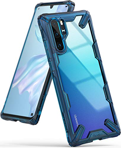 Ringke Fusion-X Compatible with Huawei P30 Pro Ergonomic Transparent Military Drop Tested Defense PC Back TPU Bumper Impact Resistant Protection Technology Cover Huawei P30 Pro Case - Space Blue