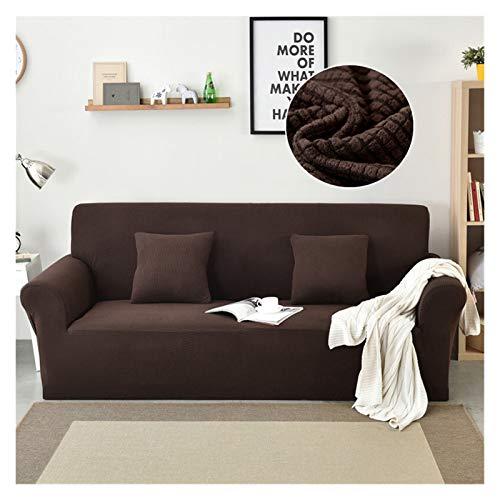 Polar Fleece Velvet Sofá Elástico Cubierta para la sala de estar Stretch Color Solid Color Funda Sofá Silla Silla cubierta de sofá 1/2/3/4 Seaver ( Color : Color 2 , Specification : 1 seat 90 140cm )