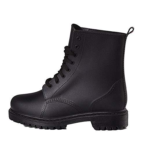Zapatos de Lluvia para Hombre Zapatos Martin para Hombre Zapatos Cortos con Cordones Zapatos de Lluvia Antideslizantes Zapatos de Lluvia Miners Zapatos de Lluvia Botas de Nieve para Hombre