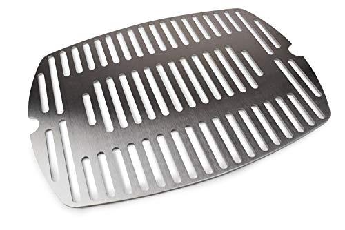 Grillrost.com - Edelstahl Grillrost/Ersatzrost passend für alle Grills der Weber Q100 und Q1000 Baureihe (Einteilig)