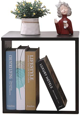 Etnicart Cubo de decoración de almacenamiento, librería, estantería wengue, 35 x 30 x 35 cm, madera MDF, estantería de diseño, oficina, entrada, salón