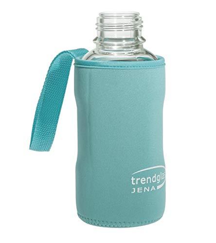 Trendglas Jena Flaschenhülle/Neopren-Schutzhülle/Thermohülle, blau - für Glasflasche, 500 ml