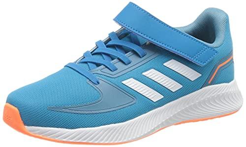 adidas RUNFALCON 2.0 C, Zapatillas de Running, Azusol/FTWBLA/AZUBRU, 35 EU