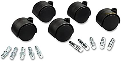 Master Caster 23624 Deluxe Duet Casters, Polyurethane, B and K Stems, 110 lbs./Caster, 5/Set