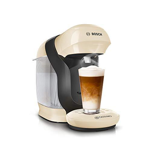 Bosch TAS1107 Tassimo Style - Cafetera de cápsulas (más de 70 bebidas, totalmente automática, apta para todas las tazas, tamaño compacto, 1400 W), color crema