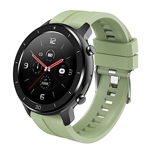 BNMY Smartwatch Deportivo con Llamadas Bluetooth Reloj Inteligente Impermeable IP67 Pulsera Actividad con Monitor De Sueño, Ritmo Cardíaco Notificación De Mensaje para Android E iOS,Verde