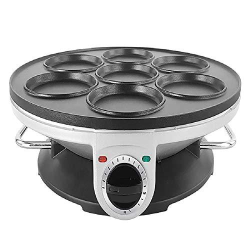 Tortilla eléctrica de 7 agujeros, máquina Dorayaki doméstica, con 3 tipos de temperatura y placa de calefacción eléctrica antiadherente, calentamiento uniforme, para hacer panqueques, crepes, pasteles
