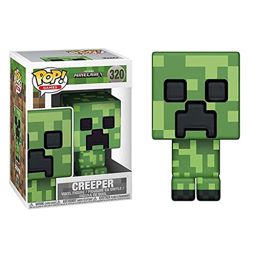 LBBD Creeper POP Games Minecraft Exquisita decoración de paisaje y figura coleccionable