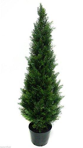120cm 4 pies Mejor artificial Pino Cedro Ciprés Conifer Árbol