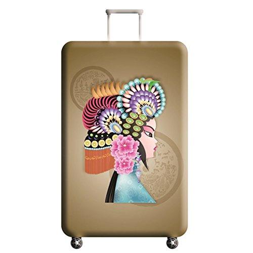QEESスーツケースカバー伸縮素材花柄キャリーカバーラゲッジカバーファション(M:22-24,02)