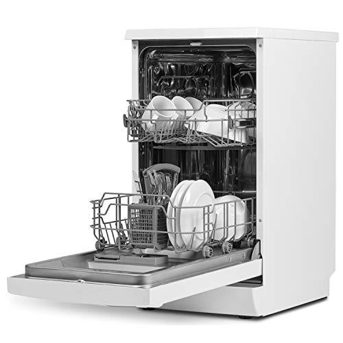 MEDION MD 37187 Geschirrspüler, Fassungsvermögen: 9 Maßgedecke, 6 Reinigungsprogramme, LED Display, Kindersicherung, Dualzonen Spülgang, weiß