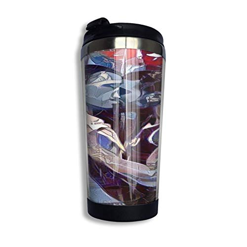 XCNGG Tazas de café - Merry Chritsmas To You Taza de café de acero inoxidable de 13 onzas con tapa protectora, taza de viaje, tamaño único