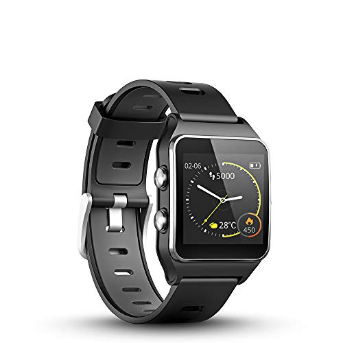 LUKAWIT GPS Running Watch with Heart Rate & Sleep Monitor,17 Sports Mode,Smart Watch Sleep Trackers with Pedometer Step Calories Counter for Women Men with Color Screen,5ATM Waterproof