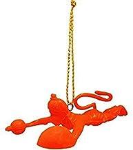 Krishna krpa Style OK Orange Flying Lord Hanuman Ji Idol Car Wall and Door Hanging
