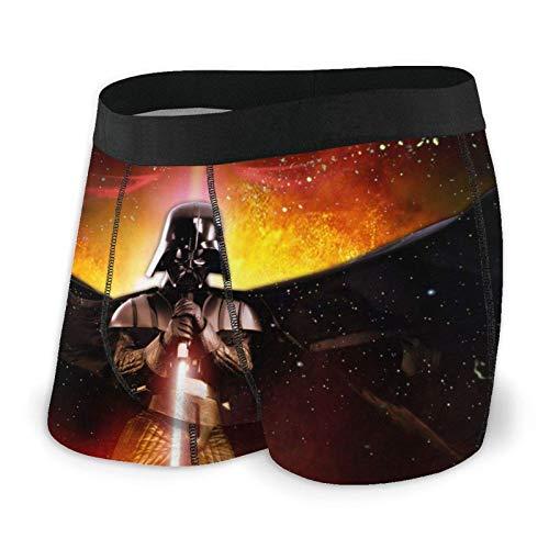 DWEO0JDWK Star War Darth Vader Herren Cotton Boxershorts 2 Pack-Large Black
