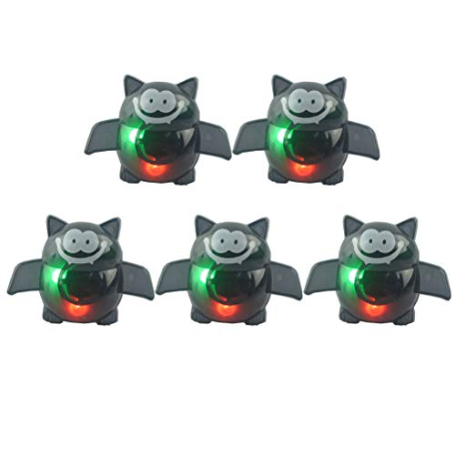 Amosfun 5 stücke Halloween Bat Luminous Fingerring Lustige Leuchten Ringe LED Party Favors Spielzeug für Kinder Halloween Party