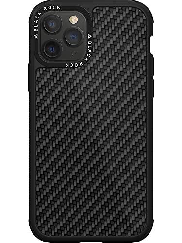 Black Rock - Hülle Carbon Handyhülle Hülle Passend für Apple iPhone 11 Pro Max   Robust Karbon, Dünn Fiber Cover, Kabellos Laden (Schwarz)
