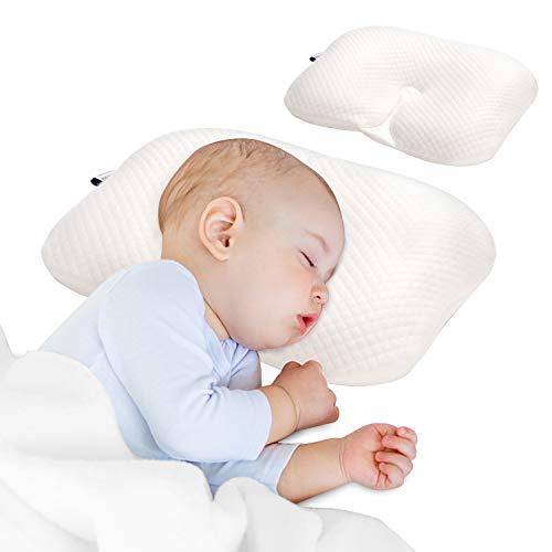 Baby Kissen, Bammax Baby Kopfkissen gegen Kopfverformung und Plattkopf, Memory Schaum Kissen, Orthopädisches Babykissen, Schadstofffrei, Weiche Atmungsaktiv für Säulinge Innerhalb 1 Jahr Alt