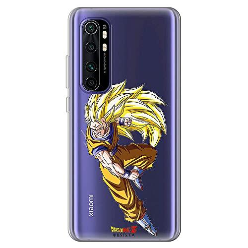 Movilshop Funda para [ Xiaomi Mi Note 10 Lite ] Dragon Ball Oficial [Goku Super Saiyan Nivel 3] Toei Animation de Silicona Flexible Transparente Carcasa Case Cover Gel para Smartphone.