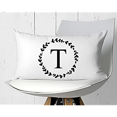 onepicebest Custom Pillowcase, Personalized Pillowcase Pillow Sham, Farmhouse Pillow Cover, Custom Monogram Pillow Cover 12x20