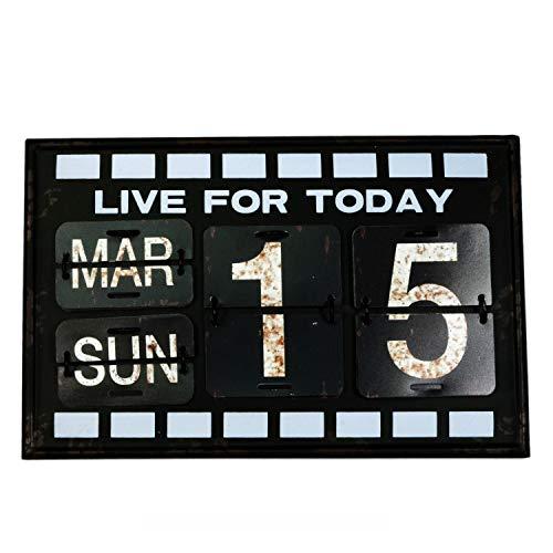 【USA アメリカン デザイン】カレンダー 日めくり カフェ ガレージ インダストリアル ビンテージ バイカー インテリア 看板 BK ;AVCA-008