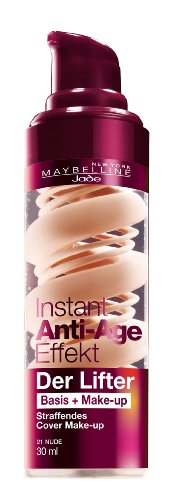 Maybelline New York Instant Anti-Age Der Lifter - 2in1 Basis + Make-Up 21 Nude, 30 ml