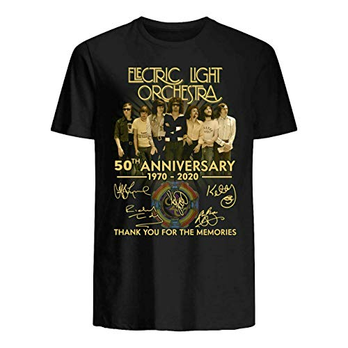 Electric Light Orchestra Elo 50Th Anniversary 1970 2020- Thanks You T-Shirt F.