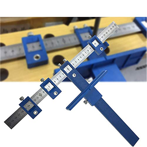 Cabinet Hardware Jig Template, Punch Locator Tool, Drawer Hole Locator Drill Guide Template Wood Drilling Dowelling for Installation of Handles, Knobs on Doors and Drawer Pull