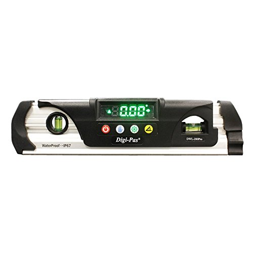 Digi-Pas DWL280PRO Waterproof IP67 Digital Torpedo Level and...