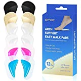 Arch Support Pads for Men & Women,Arch Shoe Insoles for Flat Feet, Reusable Arch Inserts Cushions for Plantar Fasciitis, Adhesive Arch Pad for Relieve Pressure and Feet Pain-(6 Pairs) for M5-13/W7-15