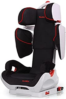 Mondial Safe Alaska Isofix 1 KS06 - Silla niña para automóvil, color negro con ribete rojo