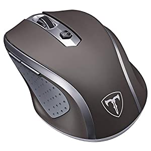 【Comfortable Ergonomic Design】After thousands of samples of palm data, we designed this ergonomic wireless mouse. The laptop mouse has a streamlined arc and finger rest to help reduce the stress caused by prolonged use. The side pits help reduce slip...