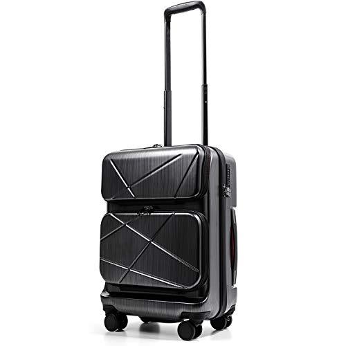 [PROEVO/プロエボ] [AVANT] スーツケース TWO POKCET carry フロントオープン sサイズ ssサイズ 小型 s ss 日乃本 ブレーキ ストッパー TSAロック 機内持ち込み 8輪 静音 2ポケット (Sサイズ, スクラッチ/