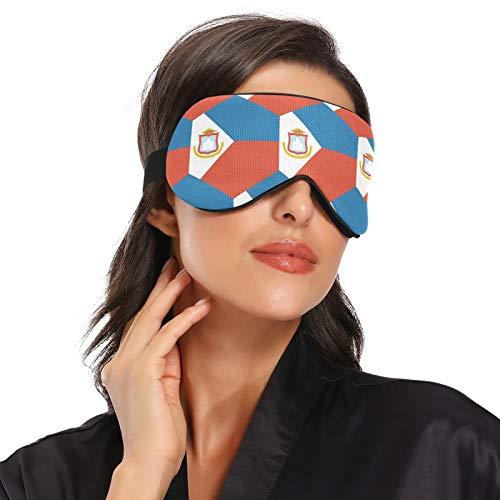 Sint Maarten Schlafmaske mit Flaggenmotiv, Augenmaske für Nachtschlafen, Reisen, Nickerchen
