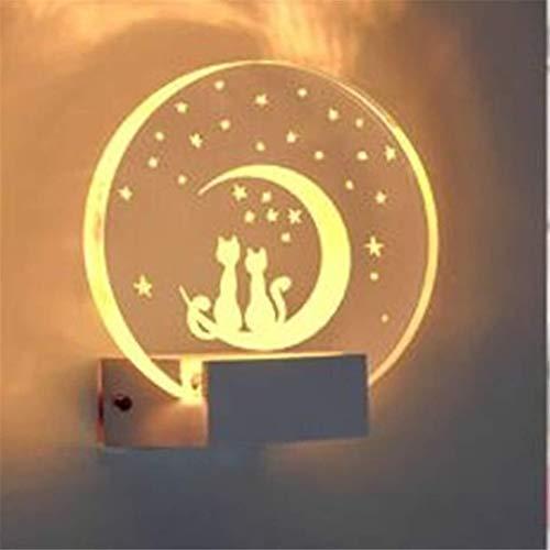 Moderne Wandlampe Schlafzimmer Nachttischlampe Metall-Wandleuchte (Color : C)