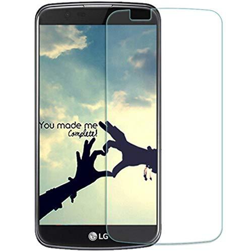Nutbro 2 protectores de pantalla para LG K10 2017 de cristal templado premium, protector de pantalla para teléfono móvil, invisible, transparente, protector de pantalla para LG K10 2017