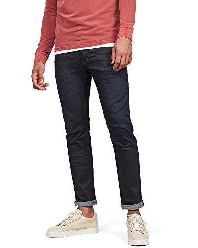 G-STAR RAW Herren Jeans D-Staq 5-Pocket Slim, Blau (Dk Aged 7209-89), 32W / 34L