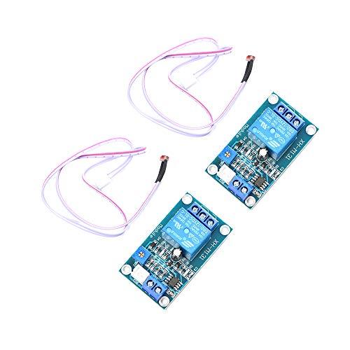 Comimark 2Pcs XH-M131 DC 12V Light Control Switch Photoresistor Relay Module Detection Sens BA