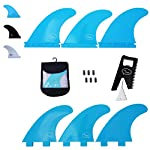 Ho Stevie! Fiberglass Reinforced Polymer Surfboard Fins - Thruster (3 Fins) FCS or Futures Sizes, with Fin Bag, Screws… 7 🏄♂️ THRUSTER FINS fit any surfboard that uses FCS (original or FCS II) or Futures fins (select which kind) - whether it's a shortboard, funboard, or longboard. 🌊 BALANCED FIN TEMPLATE is suited for all types of waves. Hit the accelerator at your favorite point break, boost some airs, or lay into some wedges at the nearest beachbreak. 🎁 INCLUDES EVERYTHING YOU NEED: 3 surfboard fins, wax comb / fin key / bottle opener, fin screws, and travel case.