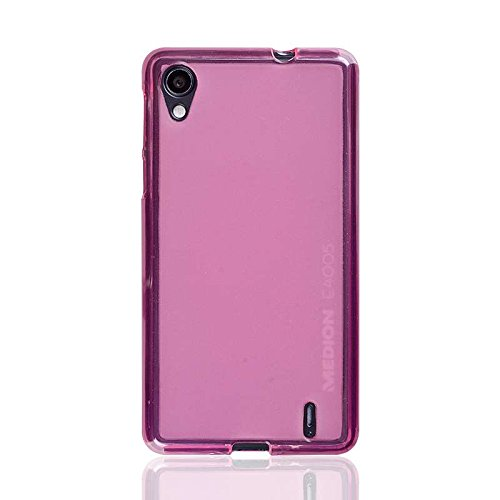 caseroxx TPU-Hülle für Medion Life E4005, Handy Hülle Tasche (TPU-Hülle in pink)
