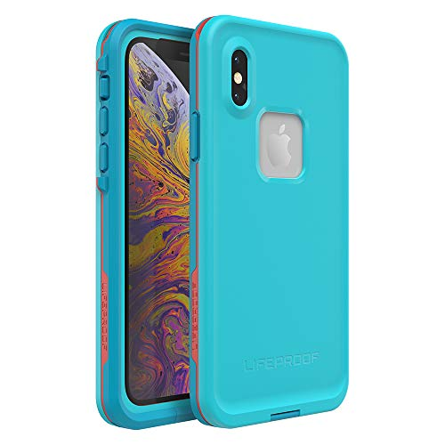 Lifeproof FRĒ Series Waterproof Case for iPhone Xs - Retail Packaging - Boosted (Blue Atoll/Hawaiian Ocean/Emberglow)