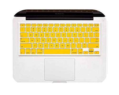 Keyboard Cover Skin Compatible for MacBook 13' Unibody/Old for MacBook Pro 13' 15' 17'/Old for MacBook Air 13'/iFor MAC Wireless Keyboard-Yellow-