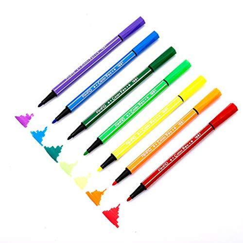MIZ 12 stylos de Peinture Graffiti lavables/boîte de stylos et Papeterie de Couleur pour Enfants