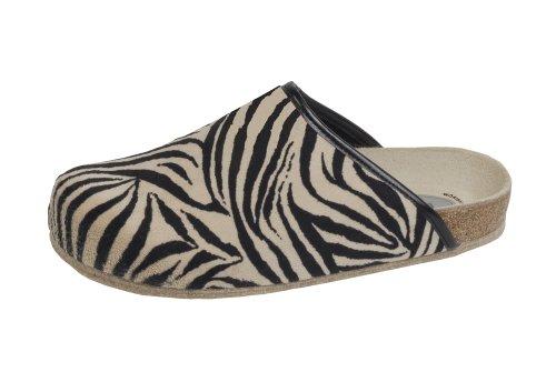 Bio-Hausschuh-Pantoffel Animal Zebra Gr. 43